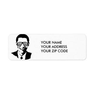 BARACK OBAMA SUNGLASSES STRIPES -.png Return Address Label