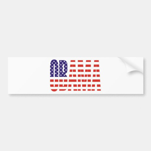 Barack Obama Support USA Flag Tees Gifts Bumper Stickers