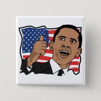 Barack Obama Thumbs Up 15 Cm Square Badge