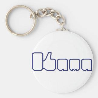 Barack Obama Thumbs Up Like Basic Round Button Key Ring