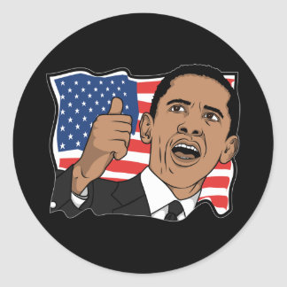 Barack Obama Thumbs Up Stickers