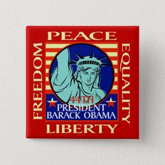 BARACK OBAMA WINS! - - Customized - Customized 15 Cm Square Badge