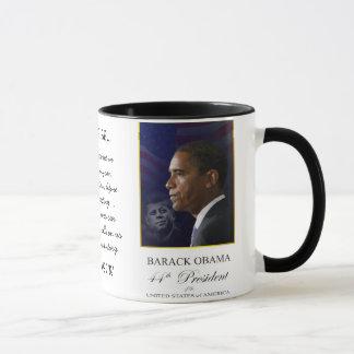 Barack Obama with Jack Kennedy - Ringer Mug