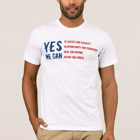 Barack Obama: YES WE CAN - Flag v1 T-Shirt