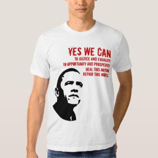 Barack Obama: YES WE CAN.... Shirt