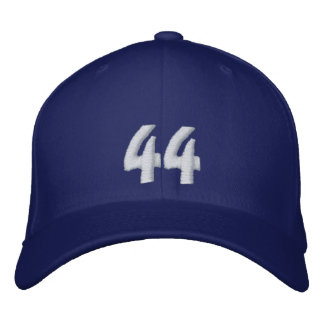 """Barack Obama """"Yes We Did"""" #44 Hat - Customized Embroidered Hats"""