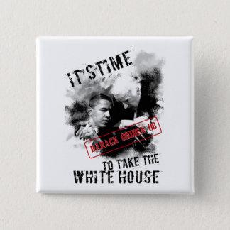 Barack Obiden 08 ItsTime To Take The White House 15 Cm Square Badge