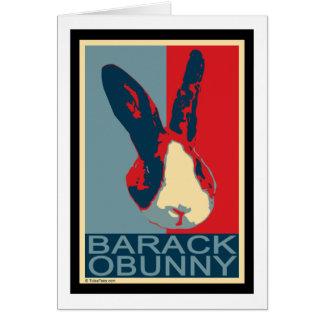 Barack Obunny Card