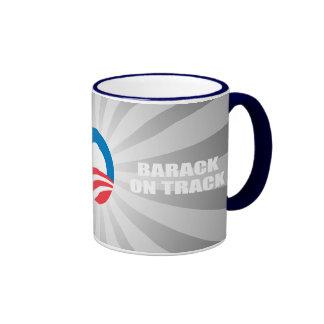BARACK ON TRACK COFFEE MUG