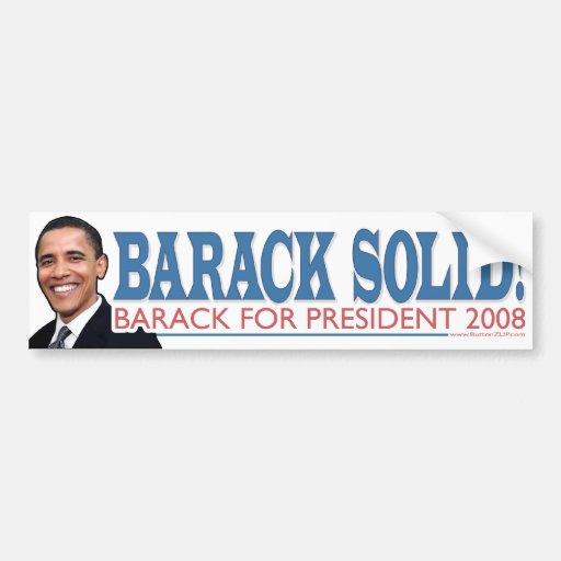Barack Solid Bumper Sticker
