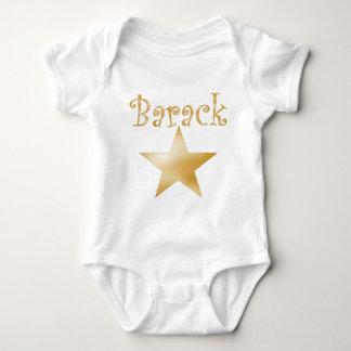 Barack Star gold Baby Bodysuit