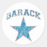 barack star round sticker