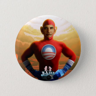 Barack Superhero 6 Cm Round Badge