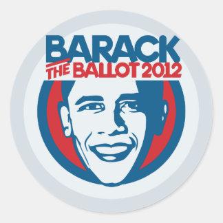 Barack the Ballot 2012 Stickers