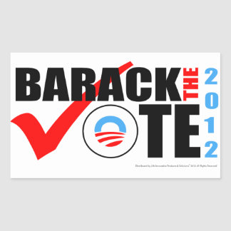 Barack The Vote Sticker with Vertical Year