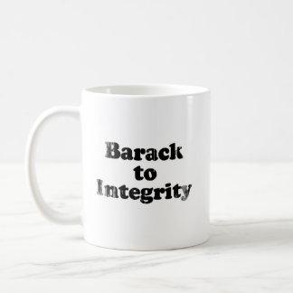 Barack to Integrity - Faded.png Basic White Mug