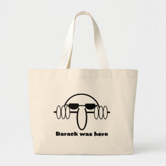 Barack Was Here Tote Bags