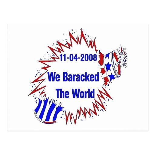 Baracked The World Post Card