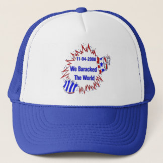 Baracked The World Trucker Hat