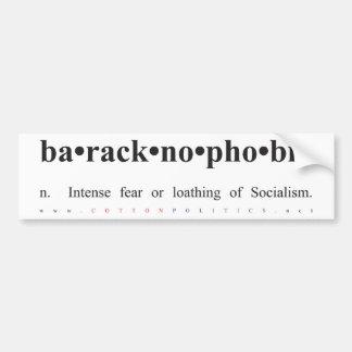 Baracknophobia Bumper Sticker