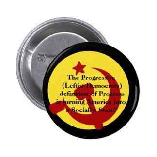 BarackObamaschange, The Progressive (Leftist De... 6 Cm Round Badge