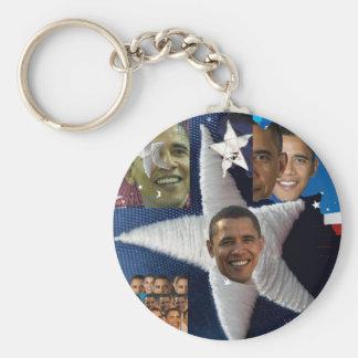 Barack's Face Basic Round Button Key Ring