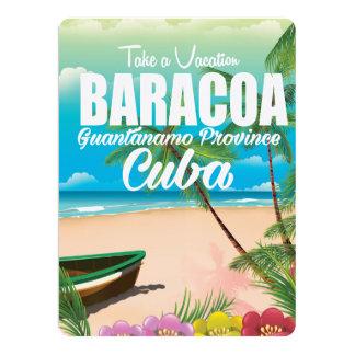 Baracoa Guantánamo Prov Cuba beach vacation poster 17 Cm X 22 Cm Invitation Card