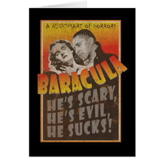 Baracula - Barack Obama Movie Poster Card