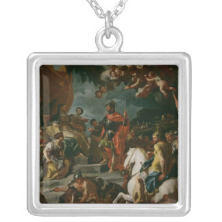 Barak and Deborah Silver Plated Necklace