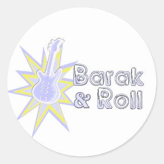 BARAK and Roll Round Sticker