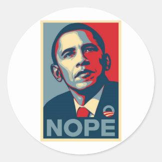 Barak NOPE Round Sticker
