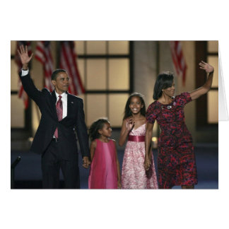 Barak Obama family wave at the last night of Greeting Card