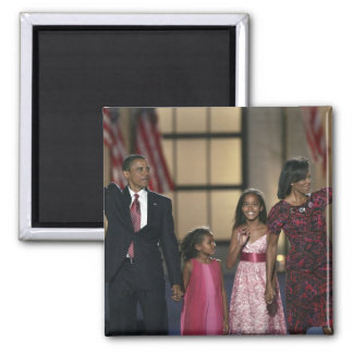 Barak Obama family wave at the last night of Square Magnet