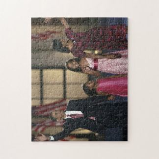 Barak Obama family wave Jigsaw Puzzle