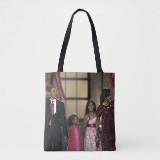 Barak Obama family wave Tote Bag