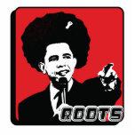 Barak Obama Roots Photo Sculpture Key Ring