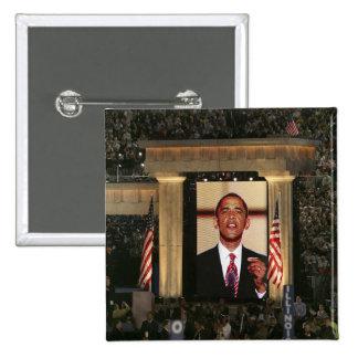 Barak Obama speaks at the last night of the 15 Cm Square Badge