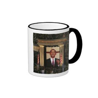 Barak Obama speaks at the last night of the Ringer Mug