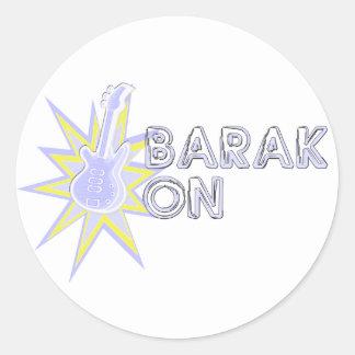 BARAK ON ROUND STICKER