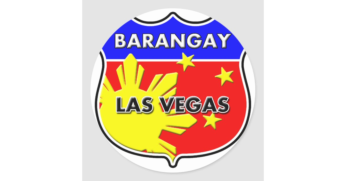Barangay las vegas round sticker zazzle for Arts and crafts stores in las vegas