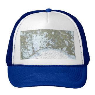Barataria Bay LA Nautical Chart Hat