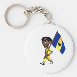Barbadian Boy Key Ring