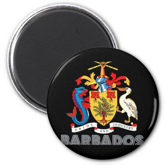 Barbadian Emblem 6 Cm Round Magnet
