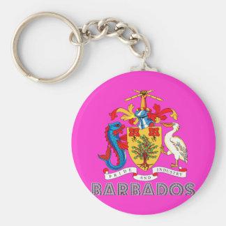 Barbadian Emblem Key Ring