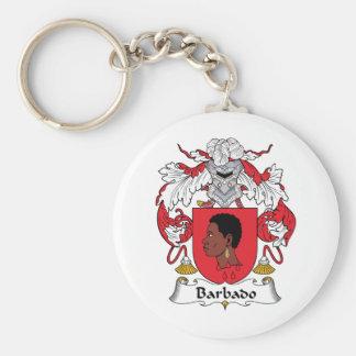 Barbado Family Crest Key Ring