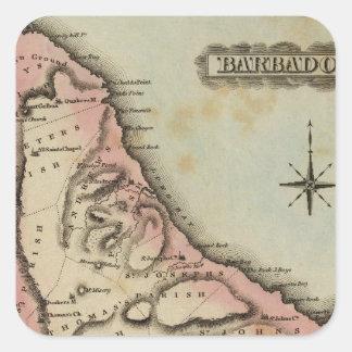 Barbadoes 2 square sticker