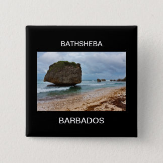 Barbados, Bathsheba Rocks 15 Cm Square Badge