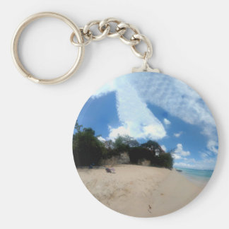 Barbados Beach Key Ring