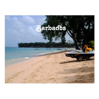 Barbados Beach Postcard