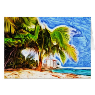 Barbados Beach Scene Card